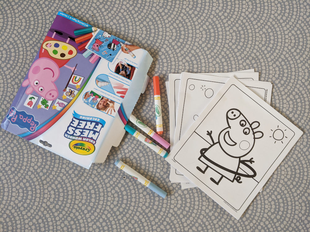 crayola color magic peppa pig pens and paper. play with me mummy mess free art for toddlers
